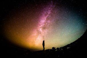 念願の夜空とコラボしました